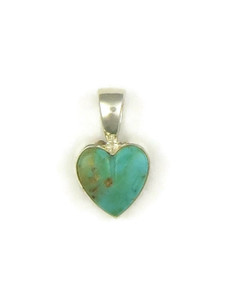 Turquoise Heart Pendant by Bernise Chavez (PD4099)