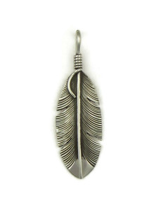 Silver Feather Pendant by Lena Platero (PD4109)