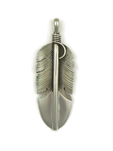 Silver Feather Pendant by Lena Platero (PD4113)