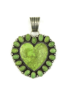 Gaspeite Heart Pendant by Linda Yazzie (PD4122)