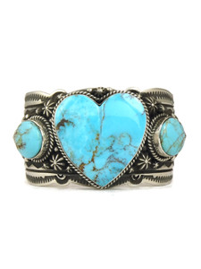 Kingman Turquoise Heart Bracelet by Happy Piaso (BR6083)