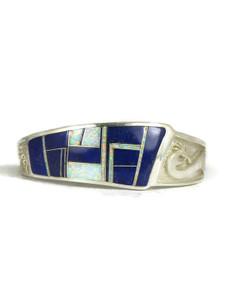 Lapis & Opal Inlay Kokopelli Bracelet (BR4366)