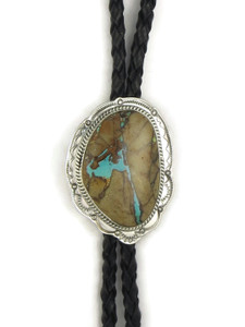 Royston Boulder Turquoise Bolo Tie by Joe Piaso Jr. (BL620)