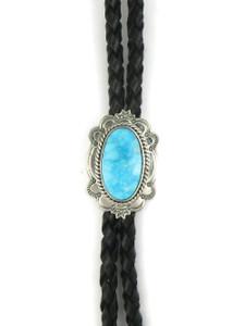 Kingman Turquoise Bolo Tie by Joe Piaso Jr. (BL623)