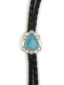 Kingman Turquoise Bolo Tie by Joe Piaso Jr. (BL624)