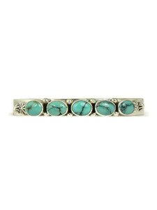 Spider Web Turquoise Row Bracelet by Lloyd Martinez (BR6138)