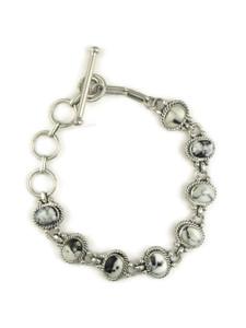 White Buffalo Link Bracelet by Margaret Platero (BR6148)
