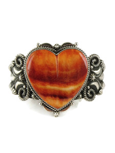 Spiny Oyster Shell Heart Bracelet by Derrick Gordon (BR6149)