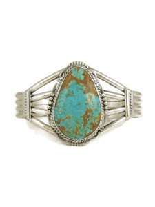 Number 8 Turquoise Bracelet by John Nelson (BR6172)