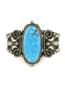 Kingman Turquoise Cuff Bracelet by Derrick Gordon (BR6206)