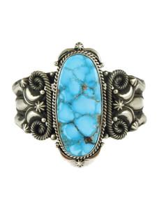 Kingman Turquoise Cuff Bracelet by Derrick Gordon (BER6207)