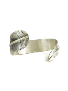 Silver Feather Wrap Bracelet by John Nelson (BR6212)
