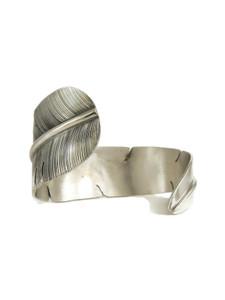 Silver Feather Wrap Bracelet by John Nelson (BR6214)