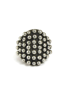 Silver Bead Ring Size 8 by Ronnie Willie (RG5068-8)