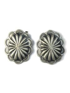 Silver Concho Earrings by Brenda Etsitty (ER5159)