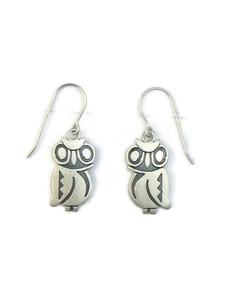 Silver Owl Earrings by Robert Gene (ER5164)