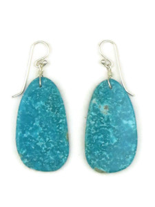 Turquoise Slab Earrings by Ronald Chavez (ER5182)