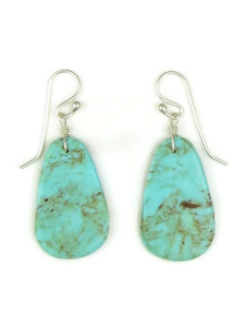 Turquoise Slab Earrings by Ronald Chavez (ER5190)