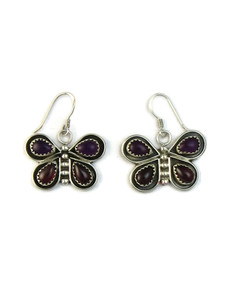 Amethyst & Garnet Butterfly Earrings (ER5215)