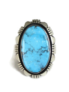 Kingman Turquoise Ring Size 8 by Cooper Willie (RG4307)