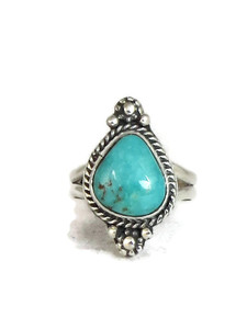 Pilot Mountain Turquoise Ring Size 8 by Lucy Jake (RG4313)