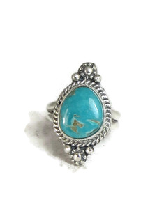 Pilot Mountain Turquoise Ring Size 5 1/2 by Lucy Jake (RG4314)