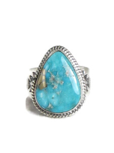 Kingman Turquoise Ring Size 13 by Lyle Piaso (RG4319)