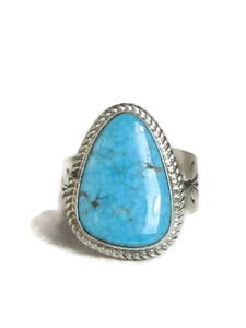 Kingman Turquoise Ring Size 11 1/2 by Lyle Piaso (RG4320)