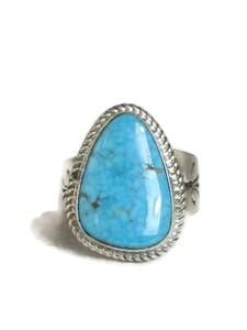 Kingman Turquoise Ring Size 11 1/2 by Lyle Piaso (RG4320)