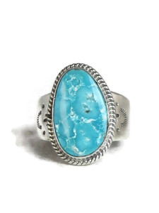 Kingman Turquoise Ring Size 13 by Lyle Piaso (RG4321)