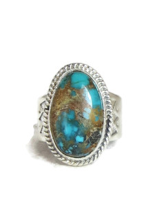 Sierra Nevada Turquoise Ring Size 9 by Lyle Piaso (RG4325)