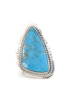 Kingman Turquoise Ring Size 8 by Lucy Jake (RG4389)