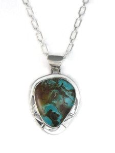 Pilot Mountain Turquoise Pendant by Phillip Sanchez (PD4132)
