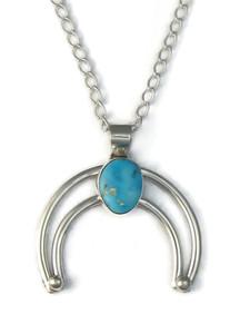 Kingman Turquoise Naja Pendant by Lyle Piaso (PD4135)