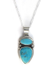 Kingman Turquoise Pendant by Lucy Jake (PD4146)