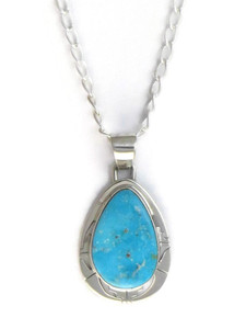 Kingman Turquoise Pendant by Phillip Sanchez (PD4147)