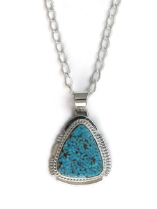 Spider Web Kingman Turquoise Pendant by Larson Lee (PD4149)