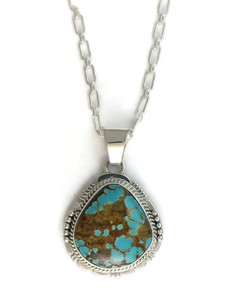 Number 8 Turquoise Pendant by John Nelson (PD4151)