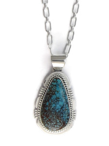 Number 8 Turquoise Pendant by Jake Sampson (PD4152)