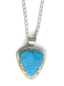 Kingman Turquoise Pendant by Phillip Sanchez (PD4155)