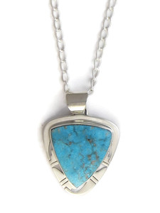 Kingman Turquoise Pendant by Phillip Sanchez (PD4156)