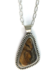 Fossilized Mammoth Tooth Ivory Pendant by Joe Piaso (PD4168)