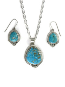 Kingman Turquoise Pendant Set by Lucy Jake (PD4173)
