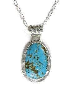 Number 8 Turquoise Pendant by Phillip Sanchez (PD4194)