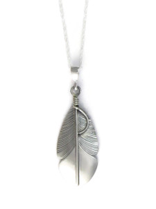 Silver Feather Pendant by Lena Platero (PD4203)