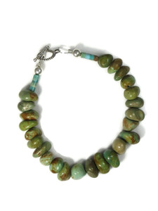 Emerald Valley Turquoise Bead Bracelet by Julian Coriz (BR6229)