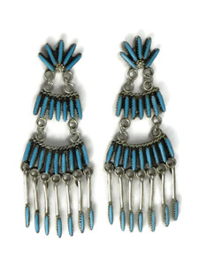 Turquoise Needle Point Dangle Earrings by Jeannie Lastayino (ER5247)