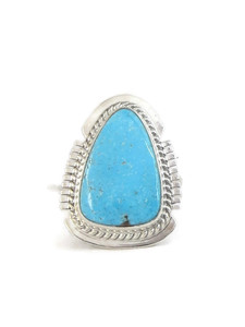 Kingman Turquoise Ring Size 8 by Larson Lee (RG4396)