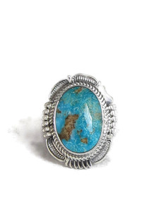 Kingman Turquoise Ring Size 9 by Benny Ration (RG4401)