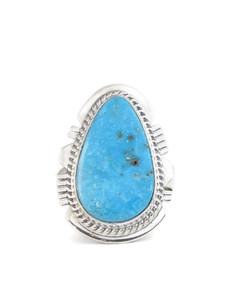 Kingman Turquoise Ring Size 9 by Larson Lee (RG4402)